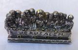 Statueta Cina cea de taina JERUSALEM imbracata in foita de argint 925