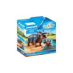 Playmobil Family Fun - Hipopotam cu pui