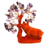 Cumpara ieftin Porc / mistret sub copac cu pietre de ametist