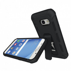 Carcasa protectie spate din plastic si TPU pentru Samsung Galaxy A3 (2017) neagra