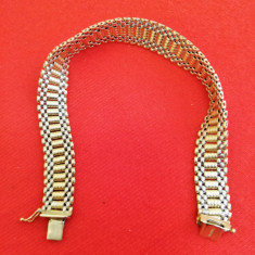 Brățară aur Elveția filigran-dantelă 14 kt / unisex