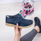 Pantofi dama casual Piele albastri Bisos-rl