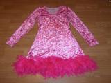 Costum carnaval serbare rochie dans pantera pentru adulti marime M, Din imagine
