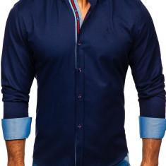 Cămașă elegantă bărbați bleumarin Bolf 5801-A