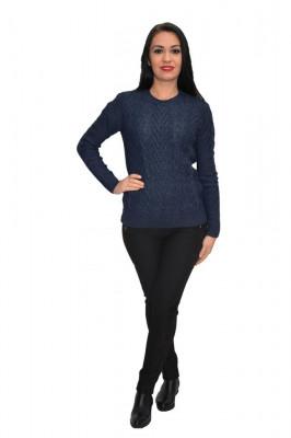 Bluza rafinata cu model ,realizata cu tricot nuanta bleumarin foto
