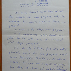 Manuscris olograf Geo Bogza , Convorbiri agrare , 5 pagini , 1979