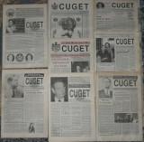 ziar Cuget,Regele Mihai,anul I din 1992,8 numere,ziare dupa Revolutie anii 90