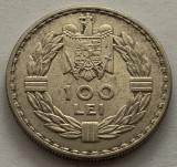 100 Lei 1932 Londra, Ag, Romania, XF+/a UNC, detalii frumoase, Argint