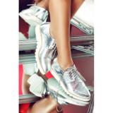 Pantofi Oxford Silver, 36
