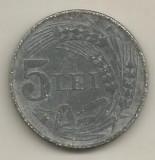 ROMANIA  5  LEI  1942  ZINC   [4]    livrare  in  cartonas