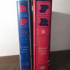 DICTIONAR ROMAN -FRANCEZ , FRANCEZ -ROMAN ( 2 VOLUME , ED. STIINTIFICA , 1967 )