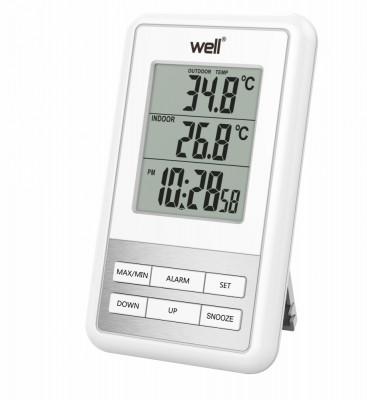 Termometru digital de interior exterior Sense Well foto