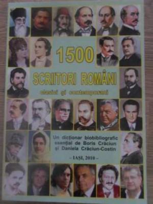 1500 SCRIITORI ROMANI CLASICI SI CONTEMPORANI. DICTIONAR BIOBIBLIOGRAFIC ESENTIA foto