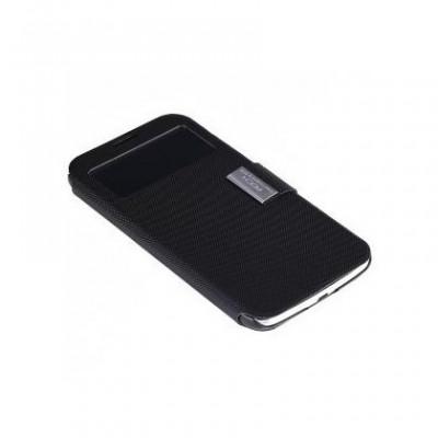 Husa Rock Flexible Flip S-View Samsung Galaxy Mega 6.3 Negru foto