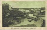 Carte postala Baia Ocna Sibiului interbelica