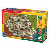 Puzzle Animale din Romania 100 piese, D-Toys