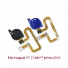 Home Buton + Senzor Amprenta Huawei Y7 Prime (2018) Albastru Original