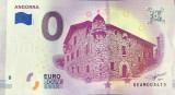 !!! X X. RARR : 0 EURO SOUVENIR - ANDORRA , CASA  DE  LA  VELL , 2018.1 - UNC