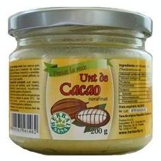 Unt de Cacao Nerafinat Crud Herbavit 200gr Cod: 25137