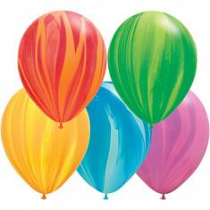 Baloane colorate Super Agate Asortate 28 cm set 100 buc