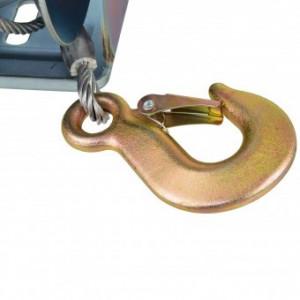 Troliu manual cu cablu, Geko G01081, capacitate 850 Kg