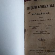 Notiuni de Geografie, manual 1914