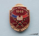 Insigna  Artilerie  -  PROMOTIA  30 DECEMBRIE 1949  -  30 ANI