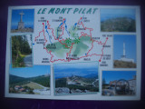 HOPCT 73346 MUNTELE PILAT /LE MONT PILAT -FRANTA  -HARTA TURISTICA -NECIRCULATA