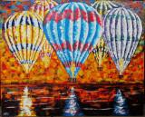 Baloane pe inserat - semnat monogramic  AFG, Peisaje, Ulei, Altul