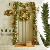 Ghirlanda decorativa din brad artificial, Molid Scandinav, lungime 5.4 m, verde natural, aspect bogat