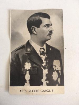 Carte postala veche M. S. Regele Carol II, anii 30, necirculata foto