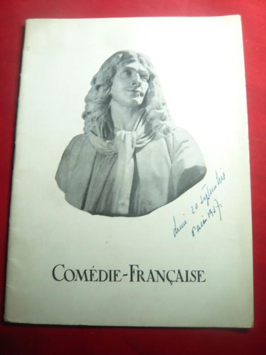 Program Comedia Franceza 1937 - distributii ,piese teatru , fotografii ,lb.franc