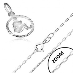 Colier realizat din argint cu model semn zodiacal, VĂRSĂTOR