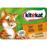 Cumpara ieftin Hrana umeda pentru pisici Meniuri Alese, Kitekat, 4x100g