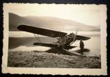 P.080 FOTOGRAFIE RAZBOI LUFTWAFFE WWII AVIATIE AVION BIPLAN PRABUSIT