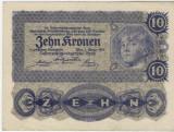 Bancnote Austro-Ungaria    10 Koroane 1922