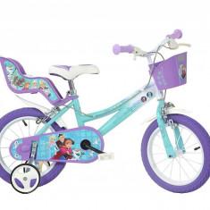 Bicicleta copii 14'' - FROZEN PlayLearn Toys, Dino Bikes