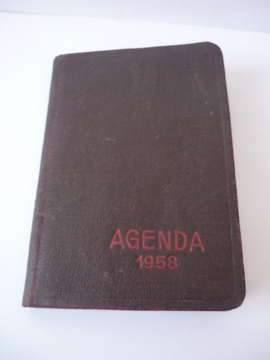 AGENDA VECHE NEFOLOSITA 1958