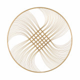 Decoratiune de perete din metal Zaira Auriu, Ø90xH1,8 cm