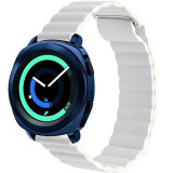 Curea piele Smartwatch Samsung Gear S3, iUni 22 mm White Leather Loop