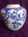 Vaza portelan Japonia, marcaj Nichi Hon/ Mount Fuii, cca anul 1920, K1