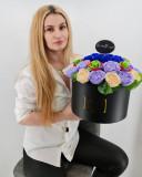Cumpara ieftin Set cadou - Trandafiri sapun - La multi ani!