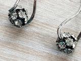 Cercei argint 925 - rodiati- aspect aur alb - CRISTAL- manufactura