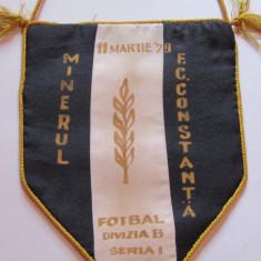 Fanion meci fotbal MINERUL Gura Humorului - FC CONSTANTA(div.B 11.03.1979)