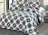 Cuvertura de pat + 4 Fete de Perna - Pat 2 Persoane - 100% Bumbac - E-S102