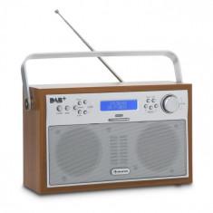 Auna Akkord, nuc, radio digital, portabil, DAB + / FM PLL, radio, ceas cu alarmă, LED-uri
