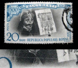 Varietate, eroare la marca postala de 20 bani Vlad Tepes, 1959, Nestampilat