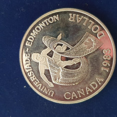 Moneda argint Canada 1 Dolar