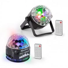 Beamz PLS35, set V2, Jellyball, 4 x 3 W LED-uri, PLS15 stroboscop cu LED-uri