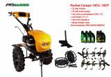 Pachet motocultor Campo 1853, benzina, EURO5, 18CP, 2+1 trepte, accesorii, ulei motor si transmisie incluse, Progarden